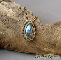 Labradorite necklace with brass chain https://www.etsy.com/au/listing/264052256/labradorite-pendant-necklace-with-beaded