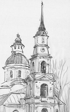 Architecture Drawing Sketchbooks, Watercolor Architecture, Architecture Art, Pencil Sketches Architecture, Cool Art Drawings, Pencil Art Drawings, Art Drawings Sketches, Arte Sketchbook, Landscape Drawings