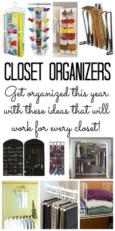 You will love these closet organizers for your home! Kick your closet organization into high gear with these ideas!