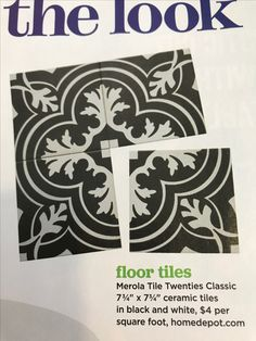 Merola Tile twenties Classic Ceramic Tiles $4 per sq foot