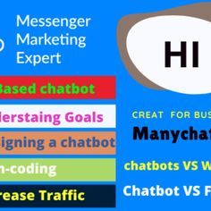 At the present time, the era of robot man is being run with social media and business industry. So like the robot, set up a manychat Bot on your Facebook business page or website, telegram, twillo, whatsapps, E-commerce site . It will automatically get your question when customers send an SMS. I will create a intelligent chatbot, so that thousands of your customers will order products without wasting your time, on the other hand business success will increase Freelance Programming, Seo Professional, Advertise Your Business, Facebook Business, Business Pages, People Around The World, Video Editing, Web Development, Robot