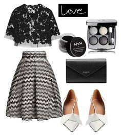 """LOVE AND HAPPINESS"" by chrylpeterman ❤ liked on Polyvore featuring Reem Acra, Marni, Balenciaga, Rumour London, Chanel and NYX"