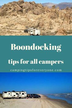 Finding a boondocking location is only the beginning! This guide will help you find out what boondocking is all about. Tips for camping 'off the grid'. #CTE Rv Camping Tips, Camping For Beginners, Rv Tips, Camping Spots, Camping Glamping, Sleeping In Your Car, Motorhome Rentals, The Perfect Getaway, Road Trip Hacks