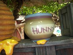 Winnie the Pooh's Honey Pot - Use an inexpensive flower pot, paint it like Pooh's Hunny Pot and set your punch bowl inside!