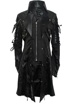 Punk Rave Punk Goth Coat | Attitude Clothing