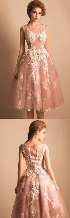 Prom Dresses 2017, Short Prom Dresses, 2017 Prom Dresses, Pink Prom Dresses, Sexy Prom dresses, Sexy Homecoming Dresses, Pink Homecoming Dresses, Homecoming Dresses Short, Homecoming Dresses 2017, Short Homecoming Dresses, 2017 Homecoming Dress Sexy Pink Appliques Short Prom Dress Party Dress