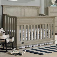 Dolce Babi Naples Full Panel Crib in Grey Satin by Bivona & Company