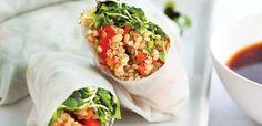 Quinoa Spring Rolls - make the filling ahead for a quick fix,  alive.com