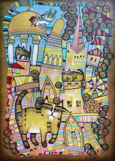 Villages Of My Childhood Painting by Albena Vatcheva