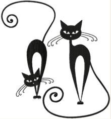 Whimsical Cat Silhouette Set I