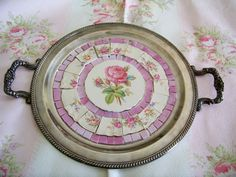 Mosiac Old Tray - incl vintage plate pieces