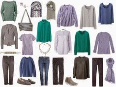 The Vivienne Files: A 4 by 4 Wardrobe in Lavender, Jade, Denim and Grey; this is for when I retire, let my hair go grey, and live in our travel trailer.