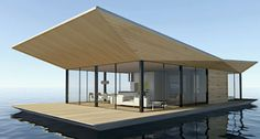 Floating house / contemporary LONDON by Dymitr Malcew H2ORIZON