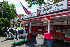 Applegate Farm Creamery in Montclair, NJ. Once a working farm, now serves homemade ice cream.