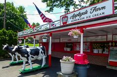 Applegate Farm Creamery in Montclair, NJ. Once a working farm, now serves homemade ice cream.