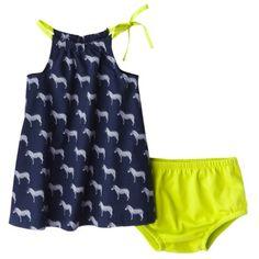 Cherokee® Newborn Girls' 2 Piece Dress Set - Blue