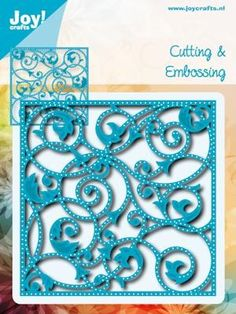 Noor! Design - Cutting & Embossing Stencil - Blauwe mal - Achtergrond met gaatj