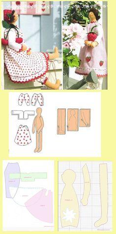 Tiny Dolls, Soft Dolls, Cute Dolls, Fabric Doll Pattern, Fabric Dolls, Doll Clothes Patterns, Doll Patterns, Doll Beds, Guys And Dolls