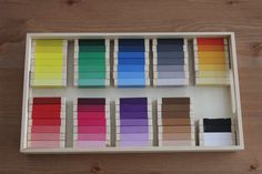 Montessori color tablets are fairly easy to DIY. Here is a tutorial of my DIY Montessori color tablets using inexpensive Jenga blocks from the dollar store