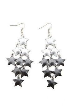 hot topic - ombre metallic star earrings