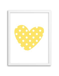 Download and print this free printable Polka Dot Heart wall art for your home or office!