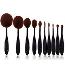 10pcs Pro Toothbrush Makeup Brush Oval Brush Set Multipurpose Makeup Brushes Set Super Nice Toothbrush Makeup Brush 7662(China (Mainland))