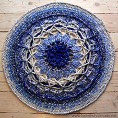 Mandala in Bloom Crochet Rug 8 Another Blooming Mandala Rug...