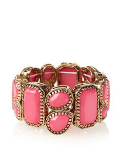 Adia Kibur Bright Pink Antiqued Cast Bracelet at MYHABIT