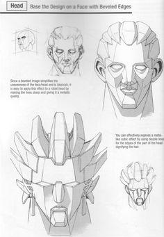 Dibujar la cabeza de un robot. Figure Drawing Tutorial, Manga Drawing Tutorials, Manga Tutorial, Army Drawing, Robots Drawing, Face Drawing Reference, Art Reference, Transformers Drawing, Cartoon Body