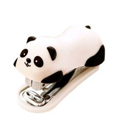 Cute Panda Mini Desktop Stapler, Home Stapler with 1000 Staples : Office Products. Adorable panda desktop stapler for home or office use. Holds up to 1000 staples. Panda Love, Cute Panda, Panda Panda, Panda Kawaii, Cute Gifts For Friends, Cool School Supplies, Office Supplies, Tacker, Cute Stationary
