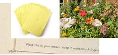 """BLOOMING """"PLANT ME!"""" SEED PAPER"""