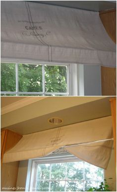 Window Awning Use 2 tension rods & a drop cloth