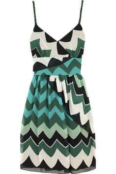 Anna Sui Beaded chevron dress