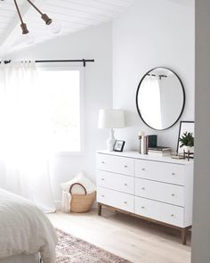 "4,309 Likes, 11 Comments - #LTKhome (@liketoknow.it.home) on Instagram: ""Savor Saturday morning moments care of @inspiredbylynne's bright whites and airy bedroom details 