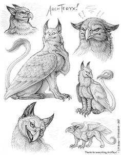 Fantasy & Sci fi art by Stephanie Bittler Creature Drawings, Animal Drawings, Art Drawings, Magical Creatures, Fantasy Creatures, Fantasy Kunst, Fantasy Art, Character Inspiration, Character Design