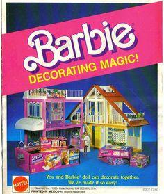 By Barbie Creations 1985 Barbie 80s, Barbie Party, Barbie World, Barbie And Ken, Vintage Barbie, Vintage Toys, Barbie Townhouse, Barbie Playsets, Poppy Parker