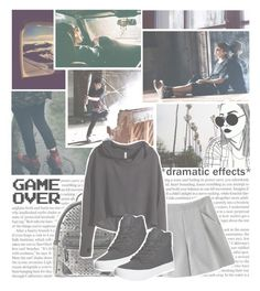 """don't make me confused"" by black-galaxy ❤ liked on Polyvore featuring Chicnova Fashion, Franklin, MCM, H&M and Vans"