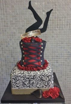 Burlesque Birthday Cake  Cake by Over The Top Cakes Designer Bakeshop