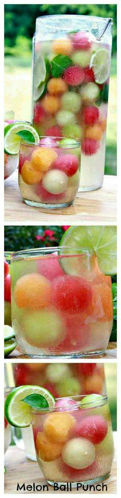 Melon ball punch!  so refreshing#Food&Drink#Trusper#Tip