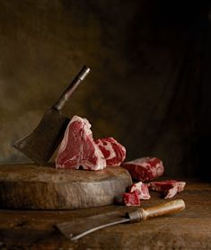 Meat Clever and Raw Beef...a classic combo...