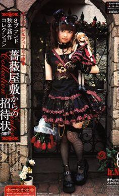 Naoto Lolita & Doll outfit doll in her hand Mode Harajuku, Estilo Harajuku, Harajuku Fashion, Japan Fashion, Kawaii Fashion, Lolita Fashion, Harajuku Girls, Style Lolita, Gothic Lolita