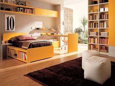 children bedroom furniture in yellow color