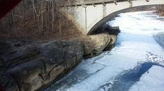 Sugar Creek from Narrows Bridge looking East
