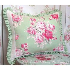 Pillow ~ Pink and Green