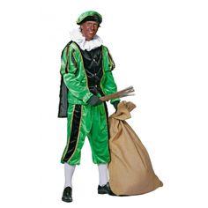 Zwart met groen Zwarte Piet kostuum bij Fun-en-Feest.nl. Online Zwarte Pieten pakken bestellen, levering uit voorraad. Zwart met groen Zwarte Piet kostuum