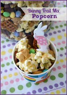 Bunny Trail Mix Popcorn. Perfect for so many occasions.   Like baby shower coming up.