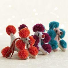 Pompom Poodle Ornaments
