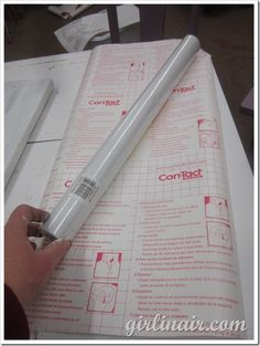 contact paper in silhouette No mat needed…I set the blade to a 1, speed to a 5 and thickness to a 5.