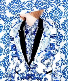 Finding mixed media Editorials really interesting. The perfect blend between the prints on textiles and wallpapers.