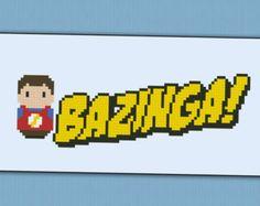 Bazinga - The Big Bang Theory parody - Cross stitch PDF Pattern